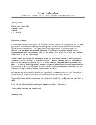 Best Ideas Of Hospitality Management Cover Letters Enom Warb With