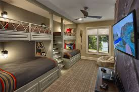 boys bunk bed four beds kids bedroom