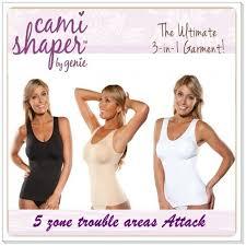 Cami Shaper By Genie Bra Instant Slim