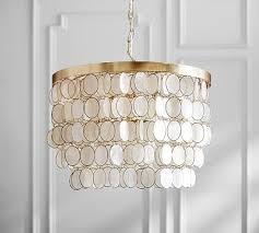 elsie capiz chandelier by pottery barn 499 pottery barn