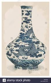 Chinoiserie Design On Pottery And Porcelain Chinese Chinoiserie Pottery Watercolor Series No 5 By Adam