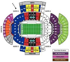 Psu Football Seating Chart Teamsters Local 776