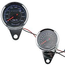 amazon com motorcycle odometer speedometer tachometer led for motorcycle odometer speedometer tachometer led for yamaha sr xv rx cafe racer suzuki honda harley