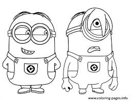 Small Picture MINION Coloring Pages Free Printable