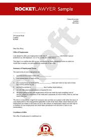 Employment Letter Example Custom Offer Of Employment Letter Create A Job Offer Letter Online