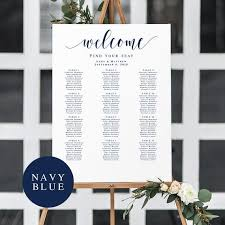 Etsy Wedding Seating Chart Navy Seating Chart Template Navy Blue Seating Chart Sign Nautical Seating Chart Wedding Nautical Wedding Seating Chart Navy Wedding Vm23