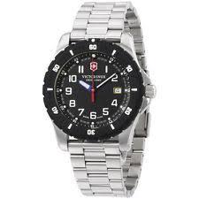 mens victorinox swiss army watch victorinox swiss army black dial stainless steel men s watch 241675
