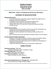 Shipping And Receiving Resume Delectable Shipping And Receiving Resume Luxury Resume For Warehouse Worker