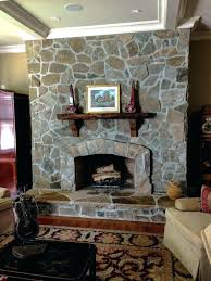 fireplace rock veneer ideas cultured stone stacked stones rocks moss decorating mountain ledge over brick