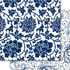 Blue China Pattern Awesome China Blue 48x48 Cardstock May Blossom