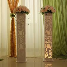 wedding decoration supplies stage heart design carved pillar column marriage stage decoration 4pcs lot in party