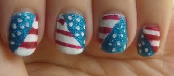 nail art patriotic american flag nail