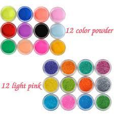 art powders liquids 12 pcs glitter 12pcs colored acrylic powder nail decoration for false nail art tips design acrylic uv