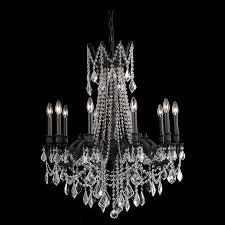 9210 rosalia collection chandelier d 28in h 31in lt 10 dark bronze finish spectra swarovski crystals 9210d28db sa elite fixtures
