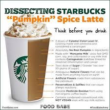 the not so sweet starbucks pumpkin e latte