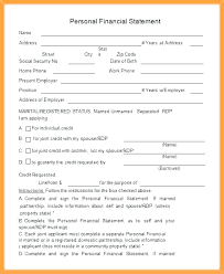 Personal Financial Statement Blank Forms Blank Personal Financial Statement Form Bank Zions Crevis Co