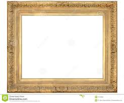 Vintage Gold Frame stock photo Image of antique isolated 6302324