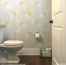 Budget Stencils Bathroom Wall Stencil Painted Accent Ideas Design Interior
