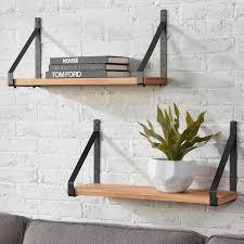 d stylewell wood wall mount bookshelf