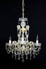 maria theresa style 4 light metal chandelier with antique gold coloured decorations italy catawiki