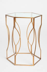 URBAN OUTFITTERS | Hexagon Side Table $99 | SKU # 26732586 | Sculpted metal  side table