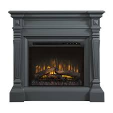 heather electric fireplace mantle log insert
