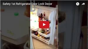 refrigerator door lock. watch the video below to see it in action. safety 1st refrigerator door lock decor