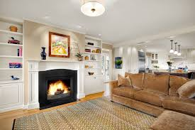 fireplace mantel shelves family room traditional with open floor plan wood trim