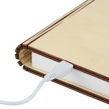 Wooden Folding Book Lightmagicfly Usb Rechargeable Book Shaped Light Warm White Led Desk Table Lamp For Decor Buy Book Lightled Book