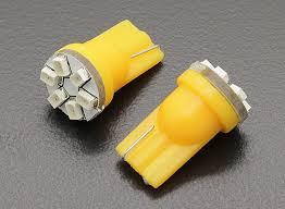 LED Corn Light 12V 0.9W (<b>6 LED</b>) - <b>Yellow</b> (<b>2pcs</b>)