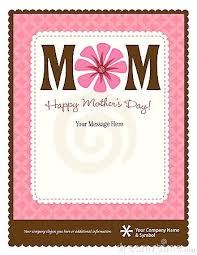 Mother Day Program Template Mothers Card Templates Free Pop Up T