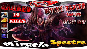 dota 2 miracle spectre survive at any cost 14 kills gameplay