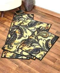 deer area rugs paisley print decorative rug accent runner oversized latex backing bear and oversi