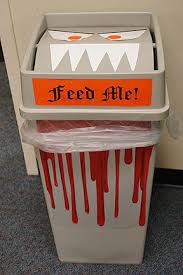 office halloween decorations. Halloween Office Decorations - Monster Trash Can