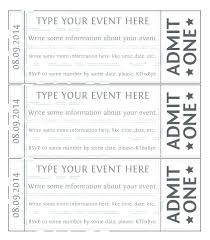 Drink Ticket Template Number Raffle Tickets Word Free Templates For