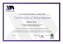 Printable Certificate Of Attendance