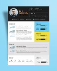 Contemporary Resume Templates Free Free Modern Resume Template For Web Graphic Designer Psd File 100 30