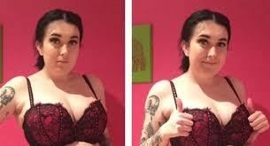 las fotos de esta joven con y sin ropa interior modeladora se hicieron virales por su fuerte mensaje