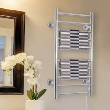 homcom 10 bar towel warmer wall mounted