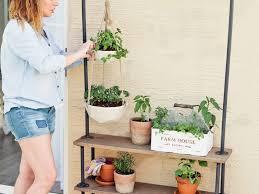 diy rolling garden plant shelf home