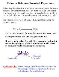 using hit and trial method to balance the chemical equations
