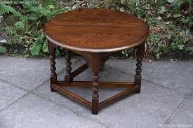 old charm light oak coffee drop leaf table