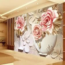 pvc flower design 3d wallpaper