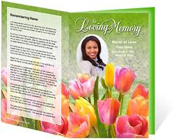 Funeral Program Template Funeral Program Templates Archives