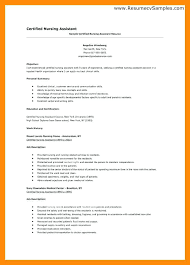 Entry Level Certified Nursing Assistant Resume Cna Resumes Samples