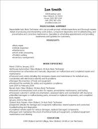 Resume Templates: Auto Body Technician Resume