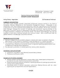Event Manager Resume Examples Of Resumes Audio Visual Example