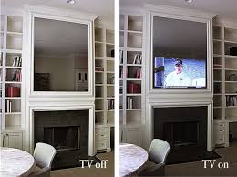 tv behind one of the mirrors original source unknown