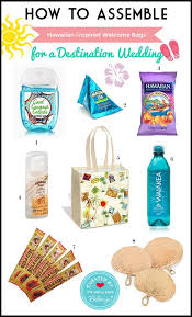 hawaiian themed wele bag for a destination wedding oot bags to wele guests