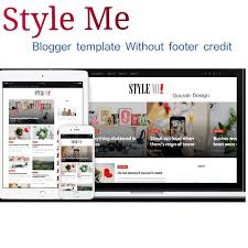 Style Me Is Magazine Newspaper Personal Responsive Blogger Template